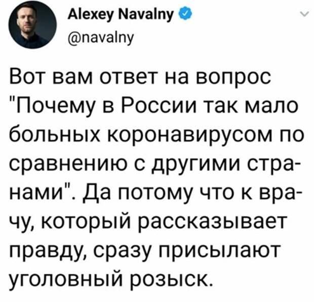 Чем может обернуться коронавирусная истерия главе «Альянса врачей» Васильевой