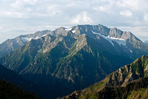 Western Caucasus mountains: pointed peaks, powerful waterfalls, deep caves....