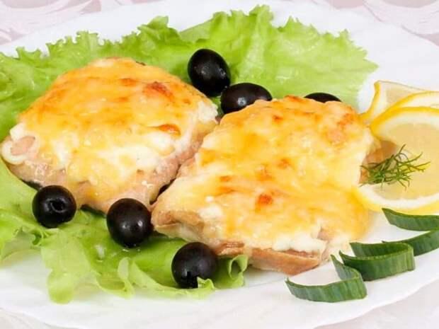 Горбуша запечённая с сыром