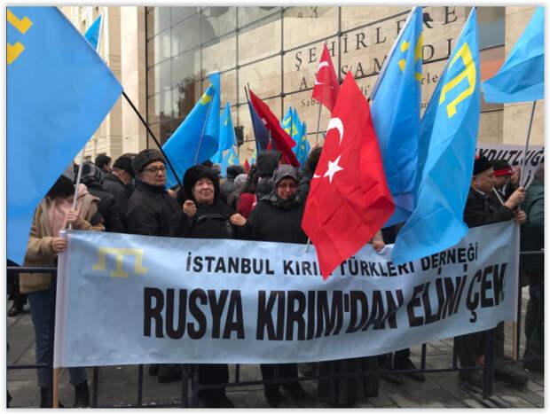 Спустя четыре года турецкие татары вышли на митинг против воссоединения Крыма с Россией 3