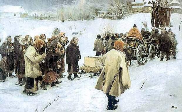 Похоронный обряд в русской культуре