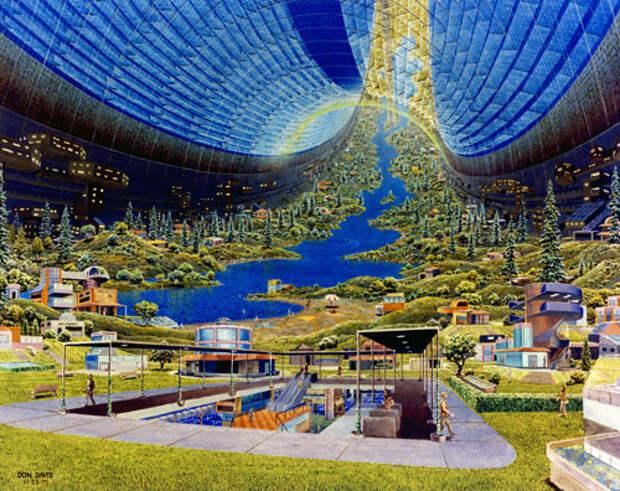 Стэнфордский тор (интерьер), рисунок Дональда Дэвиса