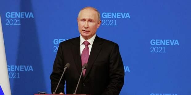 Путин охарактеризовал Байдена