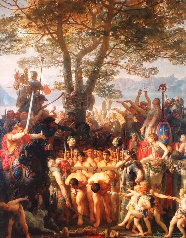 Марк Глейр. Римляне проходят под ярмом (1858). Художественный музей, Лозанна - Жизнь за победу   Warspot.ru