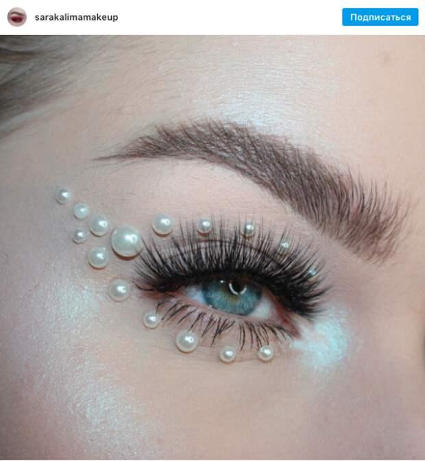 Тренд из Instagram: макияж с жемчугом