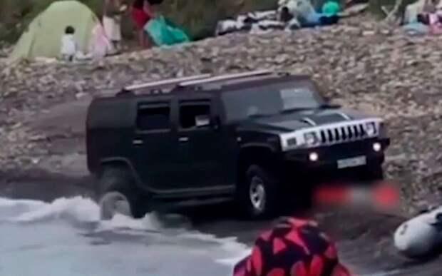 Водитель, разъезжавший по пляжу на Хаммере: Я больше так не буду!