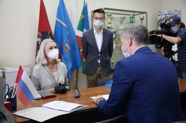 Ирина Белых подала документы на регистрацию в качестве кандидата в депутаты Государственной Думы