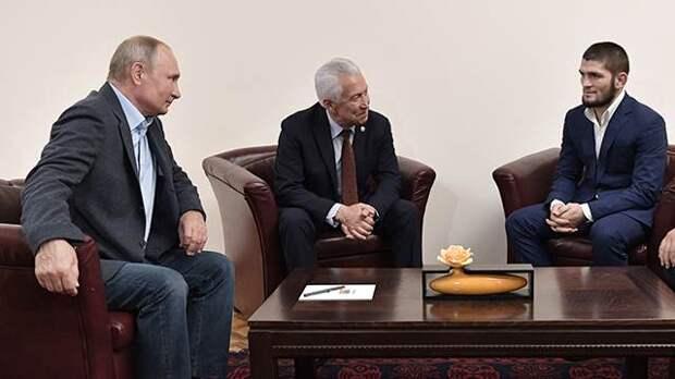 Путин поздравил Нурмагомедова с победой на турнире UFC в Абу-Даби