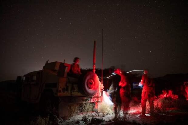 Ночные американо-французские учения в Джибути.6.11.2020