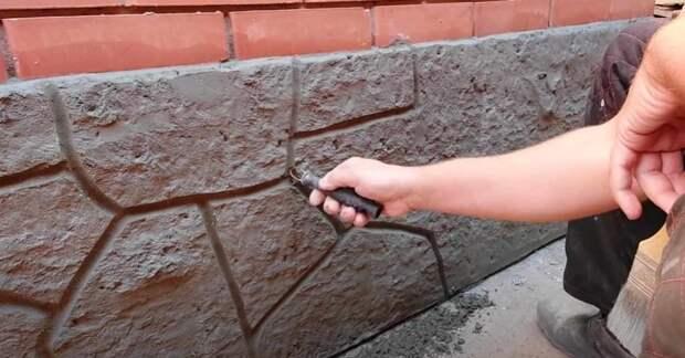 Технология нанесения фактурной штукатурки «под камень» своими руками