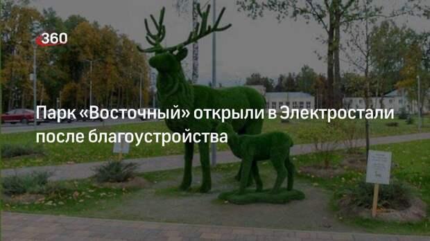 Парк «Восточный» открыли в Электростали после благоустройства