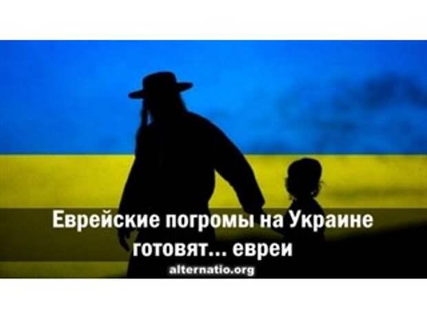 Еврейские погромы на Украине готовят… евреи