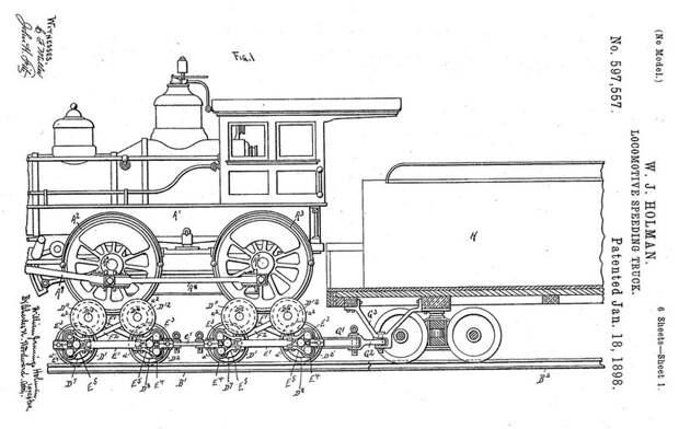 Первый паровоз системы Холмана