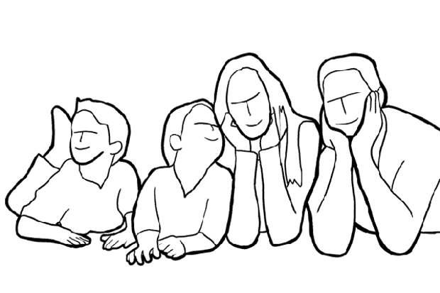 Групповое семейное фото