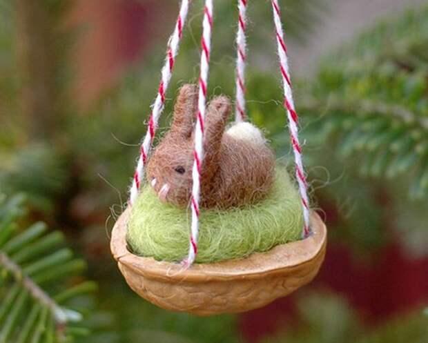 Щёлкаем орешки: скорлупа грецкого ореха как материал для вашего творчества, фото № 30
