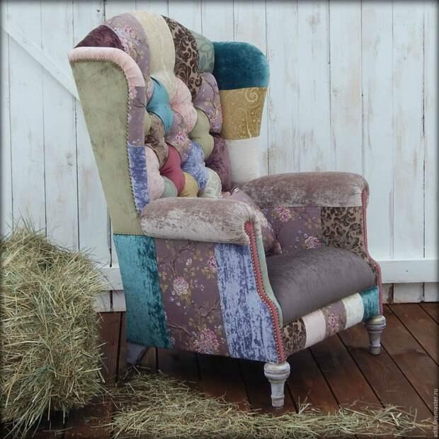 Пэчворк кресла и чехлы для кресел
