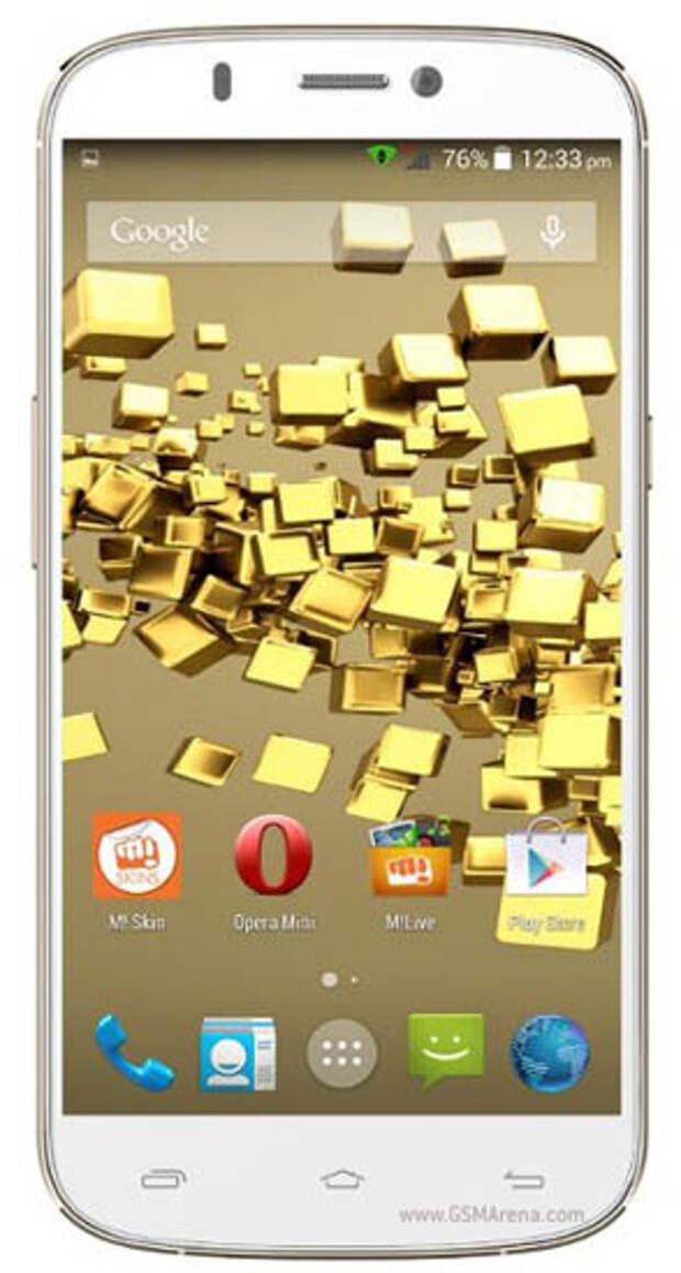 Начались продажи 8-ядерного смартфона Micromax Canvas Gold A300 с Full HD экраном