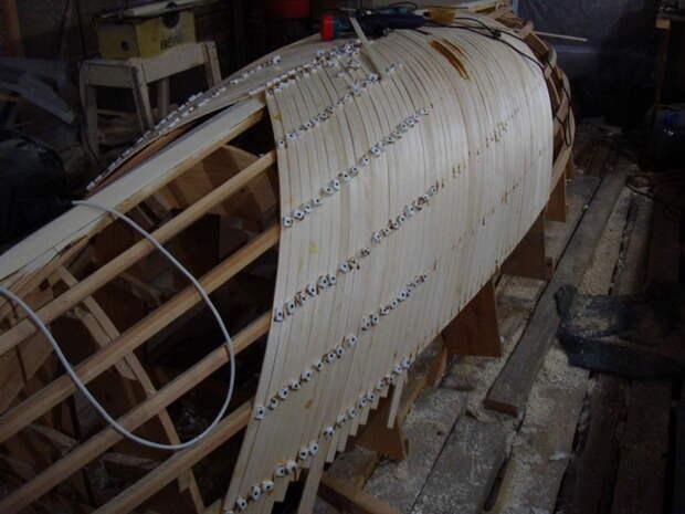 Интересный вариант строительства лодки своими руками