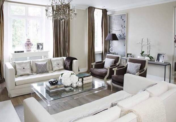 два дивана в гостиной