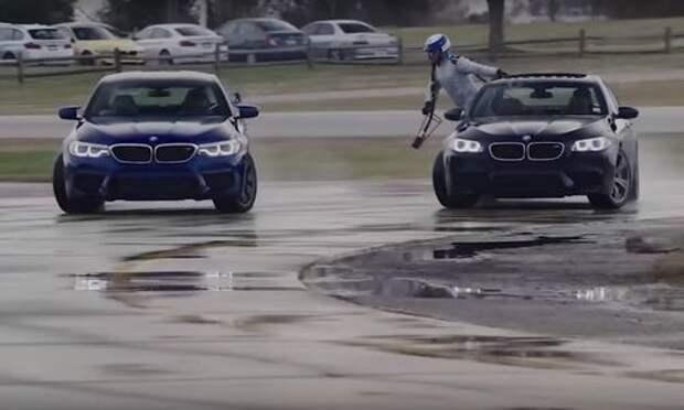 Рекордный дрифт с дозаправкой «в воздухе» выполнен за рулем BMW M5