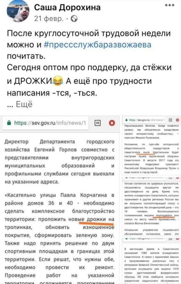 Обнаружен самый дотошный читатель сайта правительства Севастополя