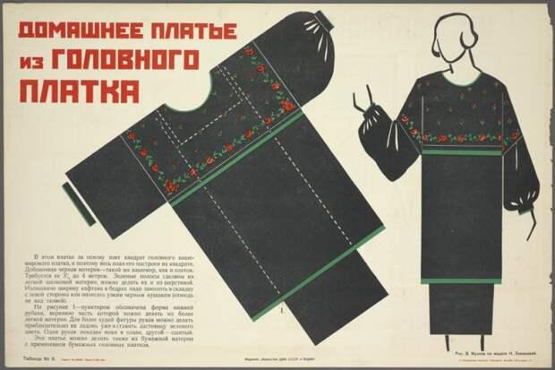 Выкройки от Веры Мухиной (подборка, 1925 г...)