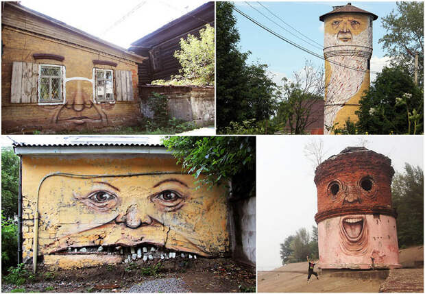 Лица на зданиях от Никиты Nomerz