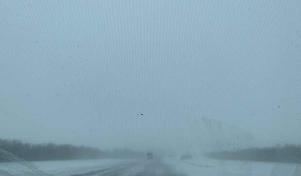 Трассу Оренбург-Орск закрыли из-за непогоды