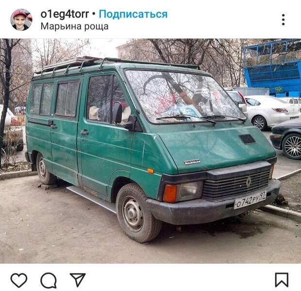 Фото дня: ретро-фургон в Марьиной роще