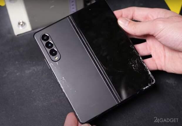 Samsung Galaxy Z Fold3 протестировали на прочность при падении с высоты