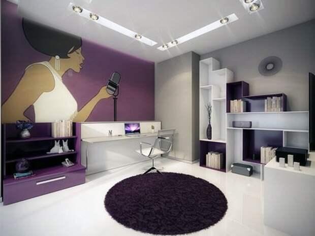 фотообои в гостиной в стиле поп-арт