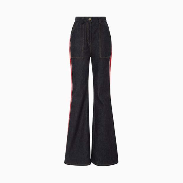 Очень длинные джинсы Diane von Furstenberg