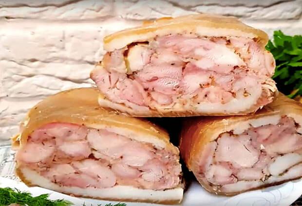 Куриный рулет: царская закуска вкуснее колбасы