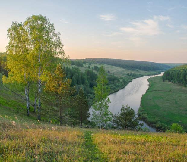 Рассвет на реке Немда