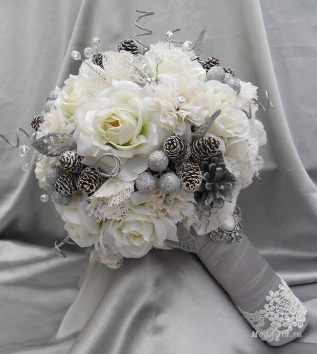Свадебный зимний букет 2014-2015