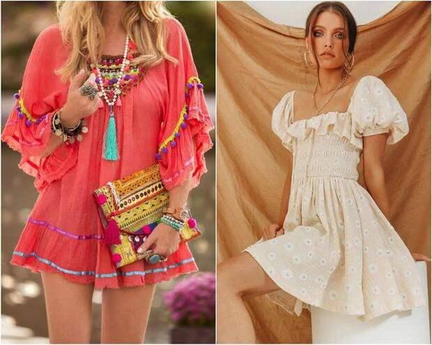 Легкие, романтичные и соблазнительные платья в стиле бохо 2021 года