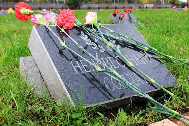 Плевок на солдатские могилы