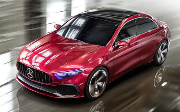 Прямолинейная чувственность: Mercedes-Benz Concept A Sedan дебютировал в Шанхае