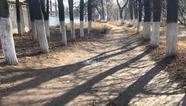 Асфальтовое покрытие тротуара обновят на улице Большая Серпуховская в Подольске