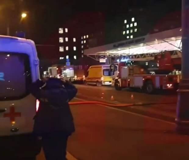 В центре Москвы загорелось здание больницы