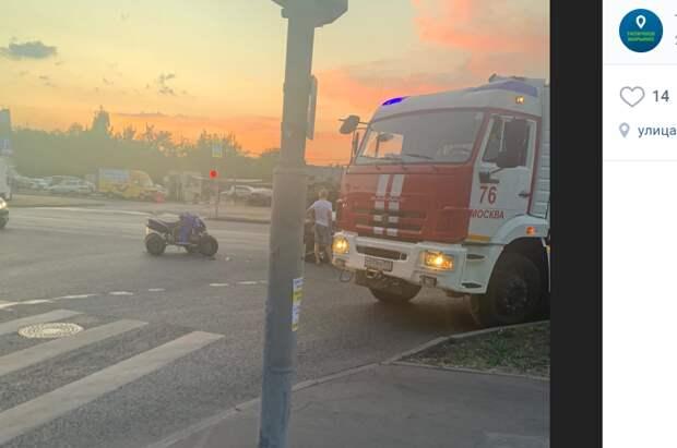 Квадроцикл сошелся в лобовую с автомобилем на Маршала Голованова
