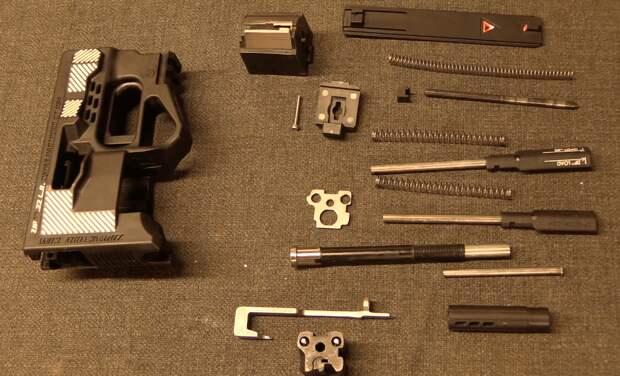 Разборка ZiP 22. Фото Forgotten Weapons