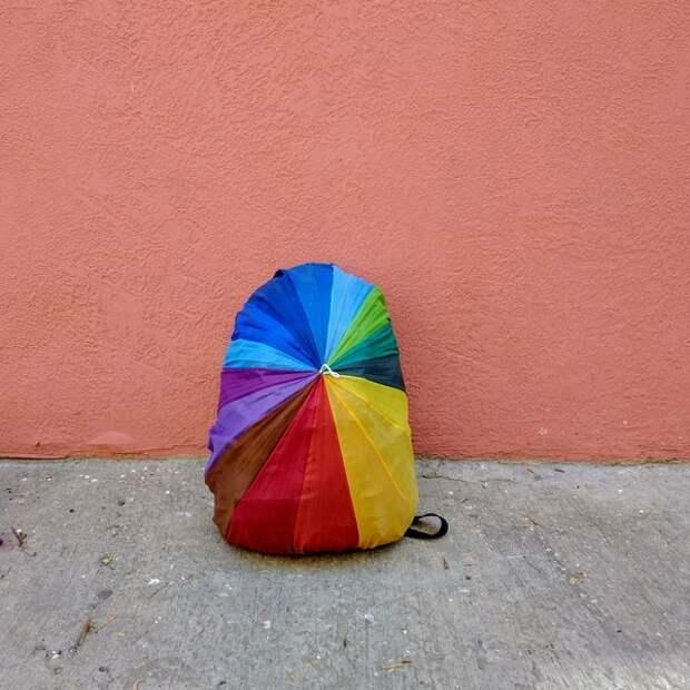 Переделка старого зонта в незаменимую вещь для рюкзака