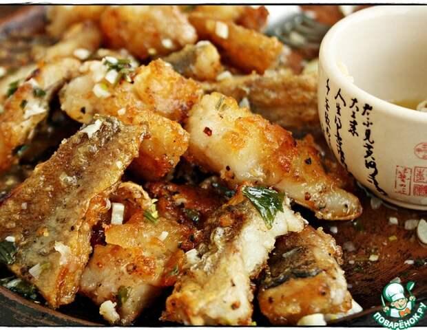 Рецепт: Рыба в чесночно-сливочном соусе