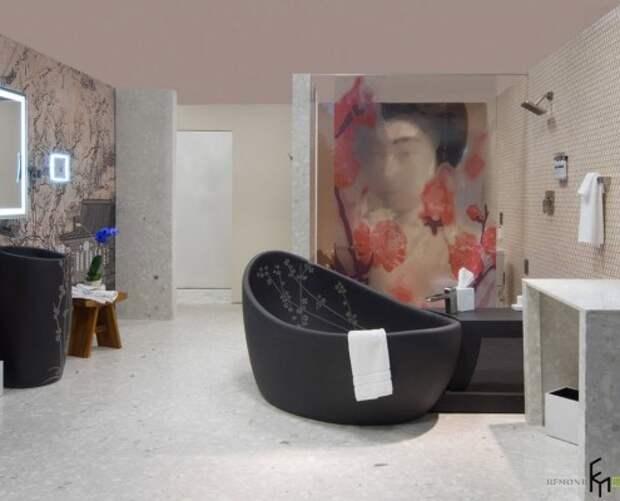 Черная ванная чаша