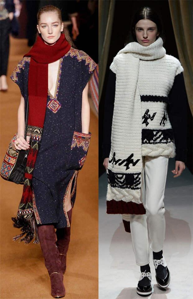 шарфы Etro и Fay