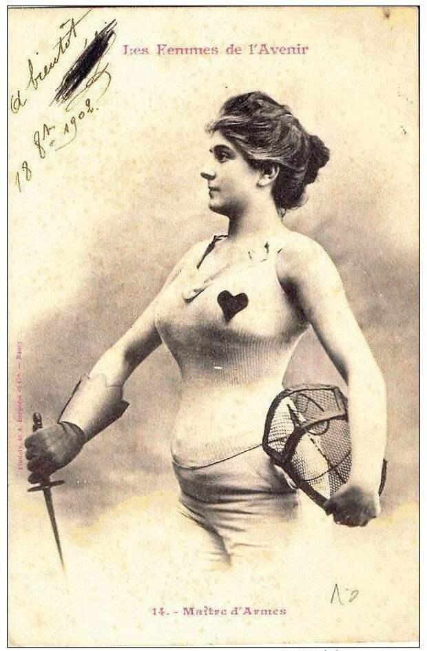 Фехтовальщик женщины, прогресс, профессии, феминизм