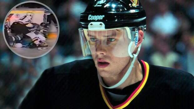 Знаменитая драка русского хоккеиста Буре. Его немогли оторвать отканадца, который набросился соспины