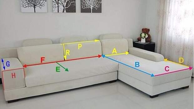 Как сшить чехол-никидку на диван 1