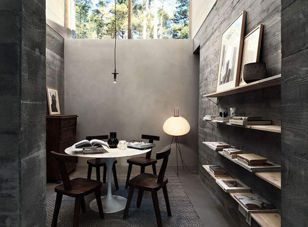 Стильный деревянный коттедж в Швеции